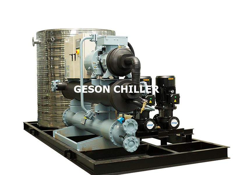 Integrated water cooled screw chiller