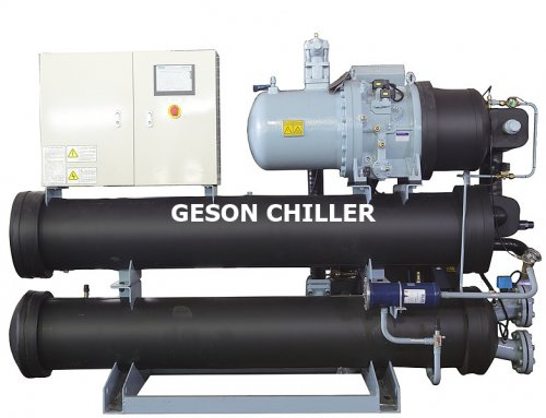 Single compressor water cooled screw chiller 12/7℃