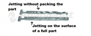 Figure 3 Jetting in an Injection Molding Chiller