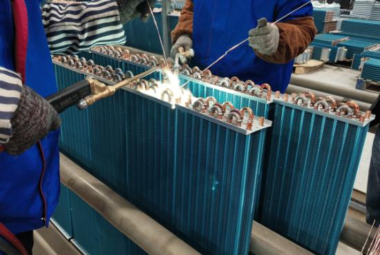 Finned Heat Exchanger Welding