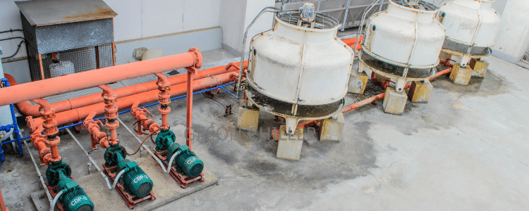 chiller and cooling tower system