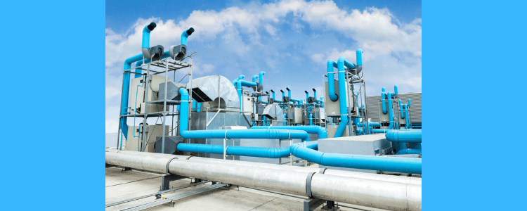 pipe water cooled chiller system