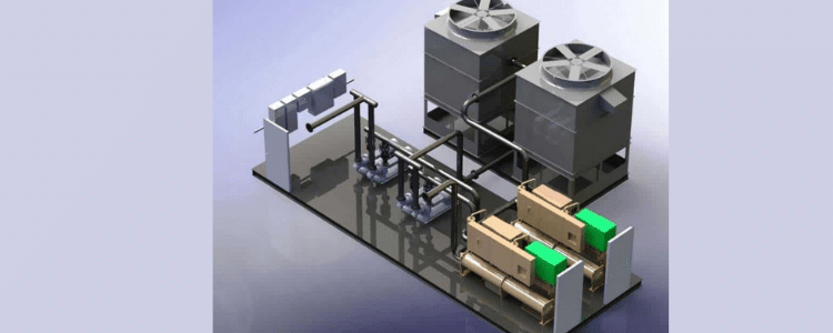 schematic diagram water cooled chiller system