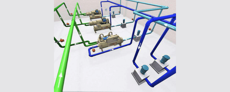 water cooled chiller system components